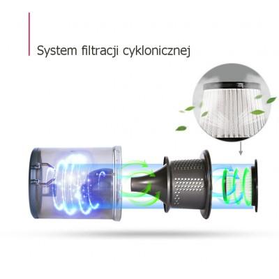 System filtracji cyklonicznej w odkurzaczu ręcznym Dibea C17