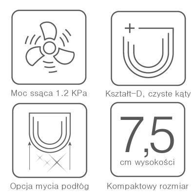 Cechy Robota sprzątającego Dibea D960