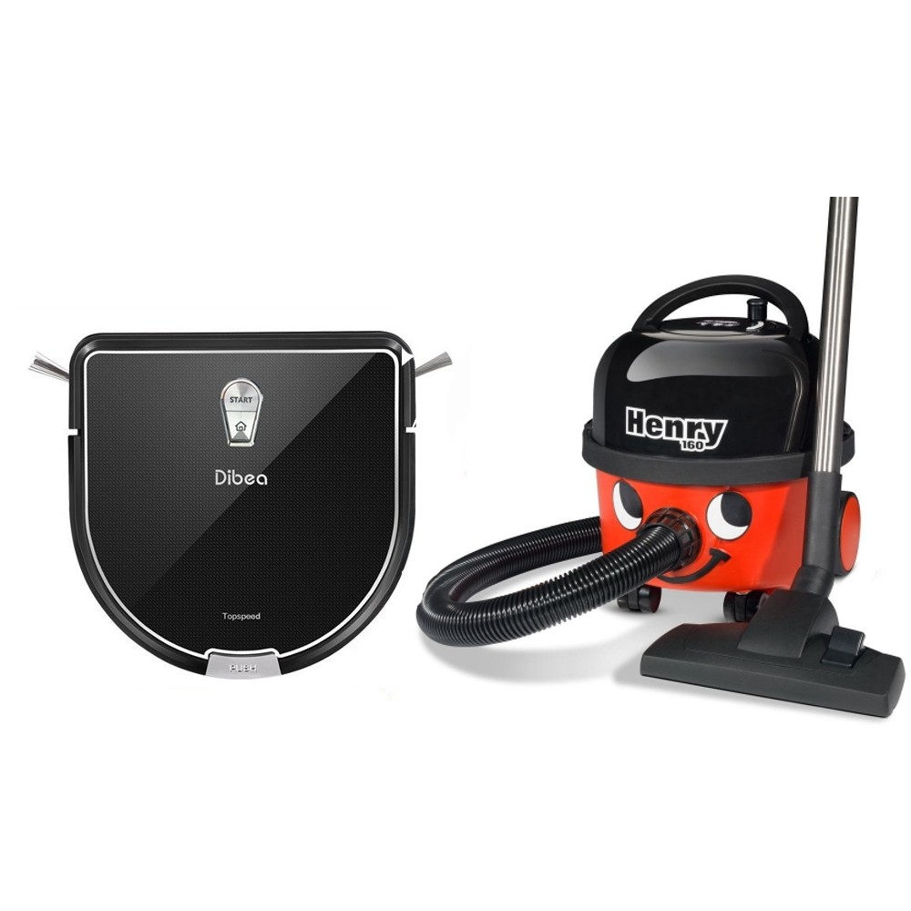 Zestaw Dibea D960 robot sprzątający i mopujący + Odkurzacz Henry HVR160 Numatic