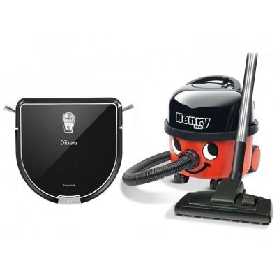 Dibea D960 robot sprzątający i mopujący + Odkurzacz Henry HVR200 Numatic