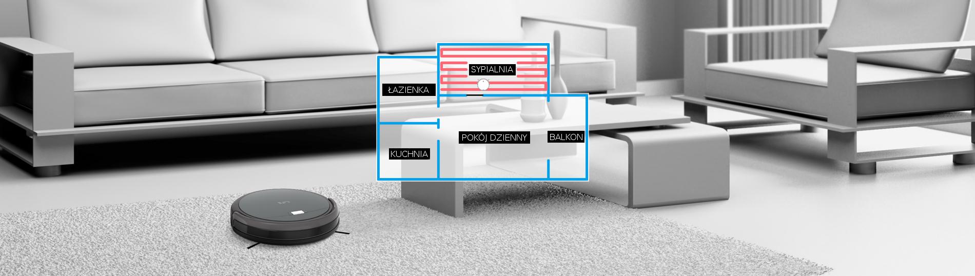 Automatyczny odkurzacz ILIFE A4s tryb pracy mini-room